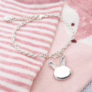 Jumping rabbit-925 sterling silver children's bracelet paternity silver