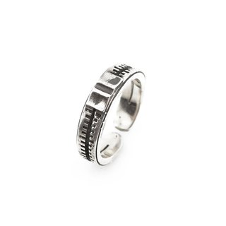 Music putter ring 925 silver