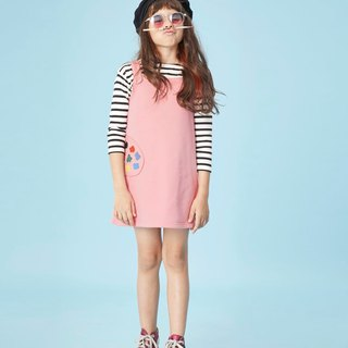 Pinafore Palette Dress-Pink