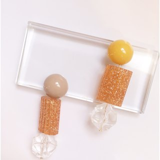 Summer orange flavor sweet and sour taste good ear pin / ear clip type