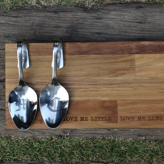 """Customized"" both pairs (wooden + spoon) gifts to share"