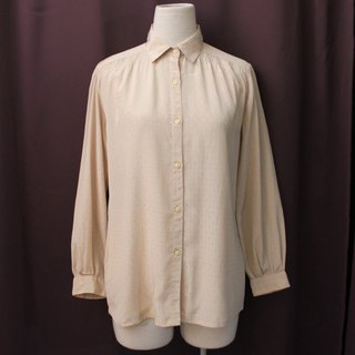 Vintage Japanese Elegant Cut Supreme Light Khaki Long Sleeve Vintage Shirt Vintage Blouse
