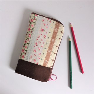 Standing Pen Case (Brown Country Floral)