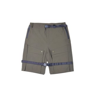 oqLiq - AdHeRe - Disassemble pocket door shorts (green)