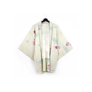 Back to Green-Japan with back feather weave/vintage kimono