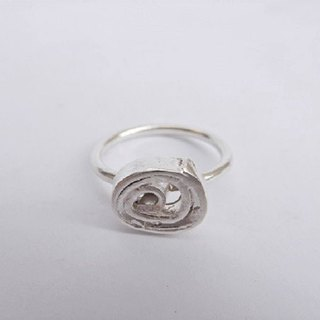 Cake sterling silver ring