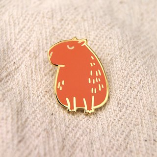 Capybara metal pin