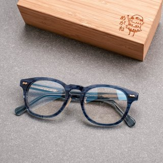 Korea limited transparent blue square frame glasses frame wild frame type