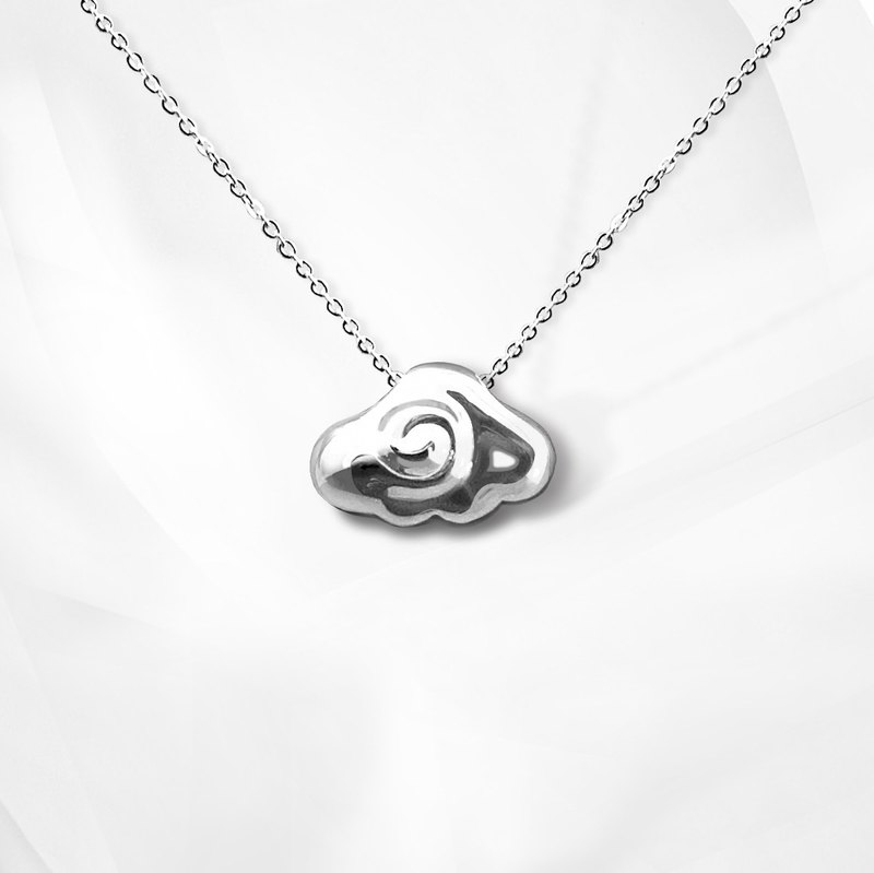VOSHAS ZEN Collection [blossoming] 925 sterling silver necklace