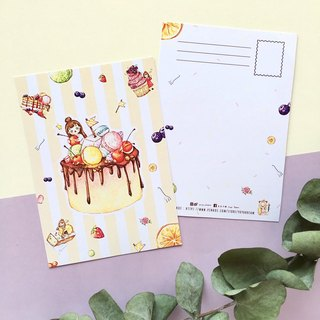 [Little Country National Dessert] Postcard - A