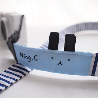 hairmo. Innocent rabbit double back strap - blue bar (double holes)