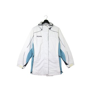 Back to Green :: Windbreaker Cotton Jacket Columbia white taffeta / / Unisex / vintage outdoor (CO-02)