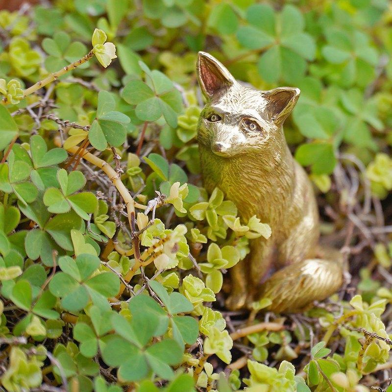 森林裡的精靈 狐狸黃銅小偶 /擺飾/收藏/療癒