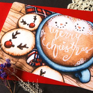 【Pin】Christmas Hot Chocolate│Print│Christmas card with envelope at your choice