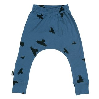 Nordic organic cotton children's clothing Dadu duck squirrel pants baby / child 1 to 12 years old dark blue