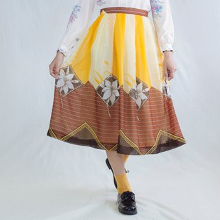 Yellow hibiscus dot painting soft skirt