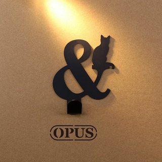 [OPUS Dongqi Metalworking] When the cat encounters the symbol &- hook (black) / wall hanging hook / storage without trace