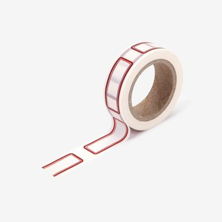 Dailylike single roll of paper tape -107 red label, E2D03893