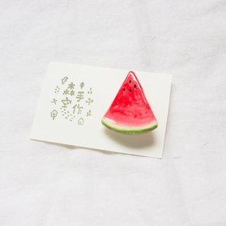 Watermelon brooch accessories スイカ
