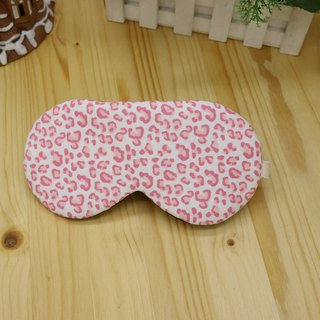 Pink leopard print adjustable eye cover gift bag sleep mask