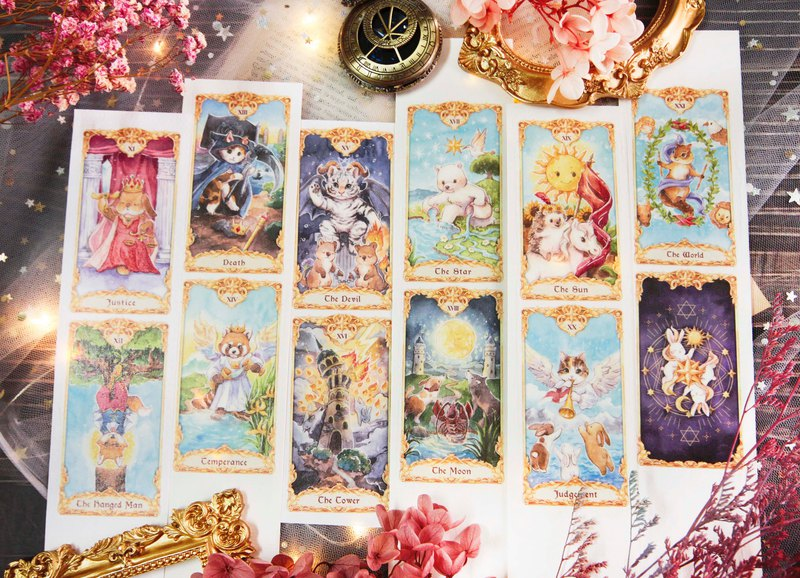 [Pre-order deadline] Small animal tarot card -5cm paper tape _1 / 6 deadline