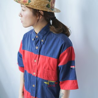 II Ancient II Japanese II Remake Vintage Striped Short Shirt II