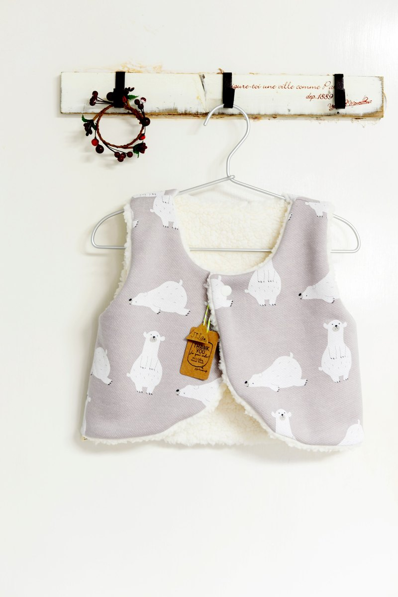 Baby gifts - hand-made double-sided plush vest