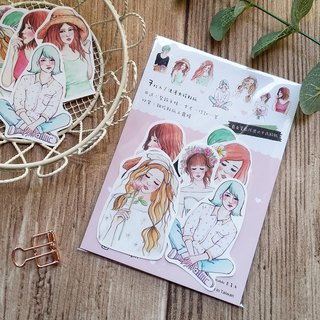 ✦ romantic girl sticker / 7 into