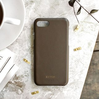 Can be lettering iPhone 7/8 4.7 吋 leather water-proof mobile phone case - Mocha