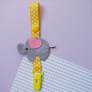 Cheerful baby pacifier chain nipple clip anti-drop chain can be changed into vanilla pacifier using elephant