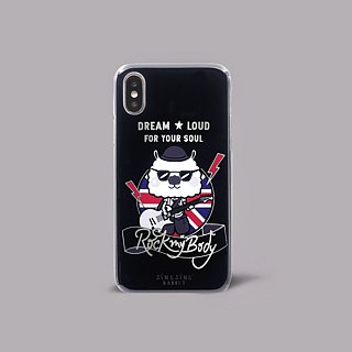 iPhone X Rabbit Music Rock Electric guitar black British wild hard shell phone case ARIPHX-OL / SSR-04-1