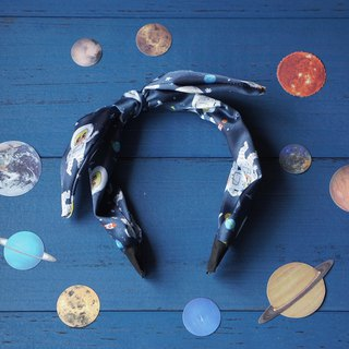 Original handcrafted astronauts rabbit ear headband