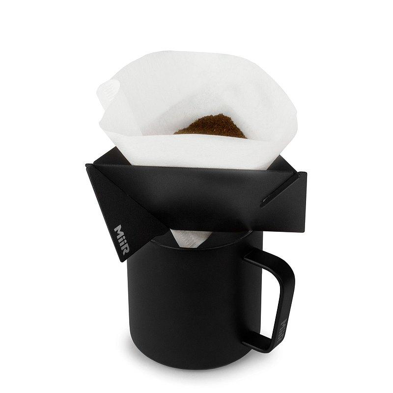 MiiR Pourigami 不鏽鋼 三片式 便攜 隨行 咖啡濾杯 - 經典黑