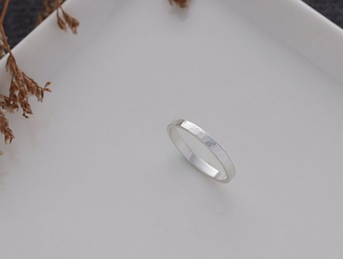 Ni.kou sterling silver water ripple ring