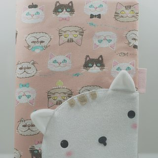 Bucute Yoshino cat half-dimensional cloth book cover / mother children's manual book cover / birthday gift / handmade