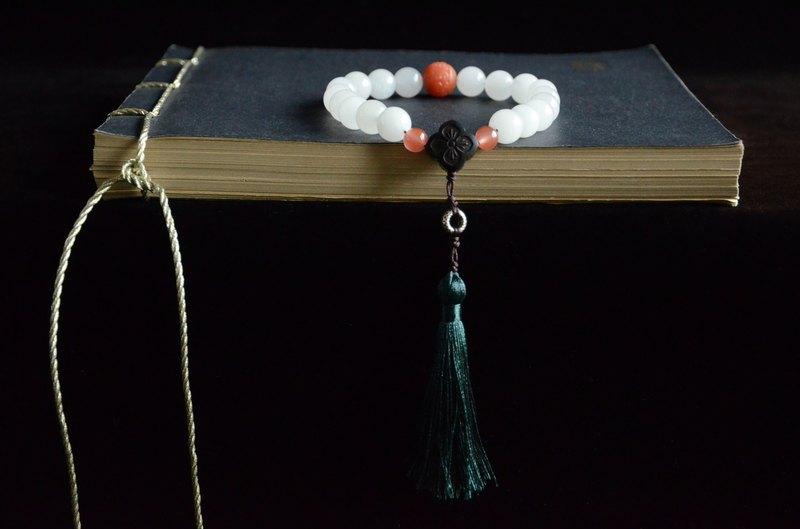 【白玉十八子】天然白玉十八子手持珠串