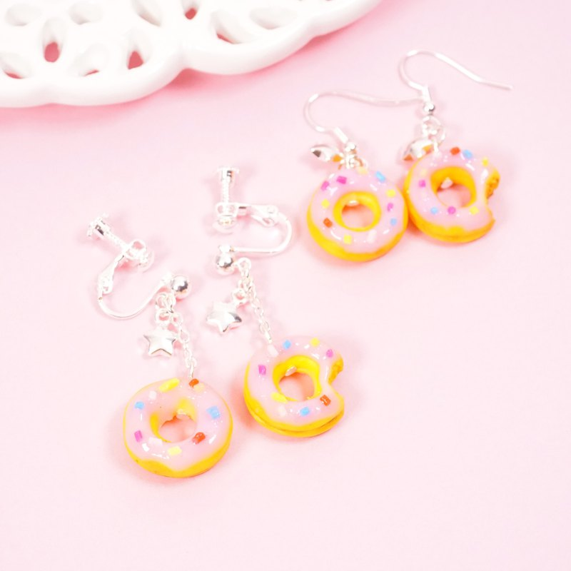 *Playful Design* Strawberry Donuts Drop Earrings