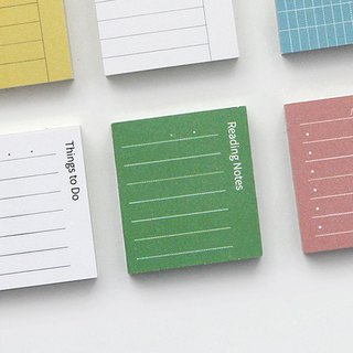 GMZ pastel square crisp index post-it notes -06 reading notes (green), GMZ07198