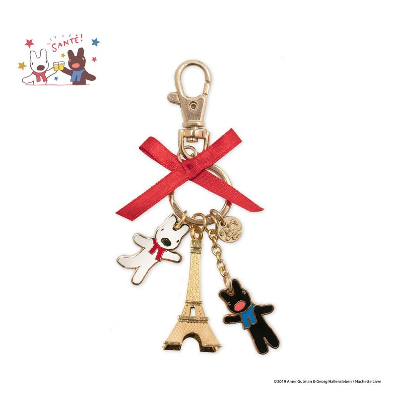 20th Anniversary Taiwan Limited! Lisa and Casper Charm Key Rings - Paris Tower