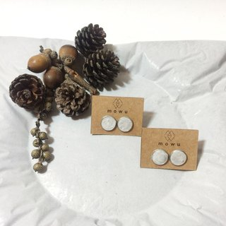 (MoWu ∷ something ∷) cement products cement earring stainless steel earring