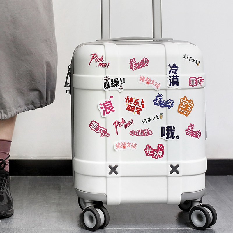 Letter of Lovers Waterproof Sticker Pack <Day and Dessert Shop> Travel Luggage Sticker Seamless Cute Retro