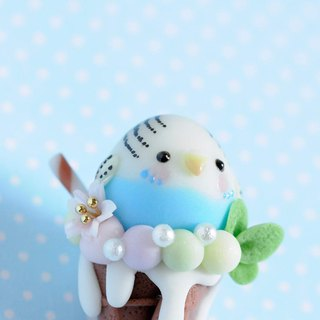 :│Sweet Dream│: Summer taste: QQ parrot cone - budgie / key ring / gift