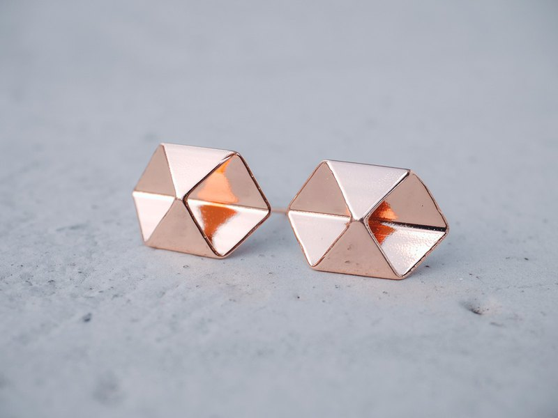 symmetrical - a pair of geo shapes earrings < once upon a time*earrings >