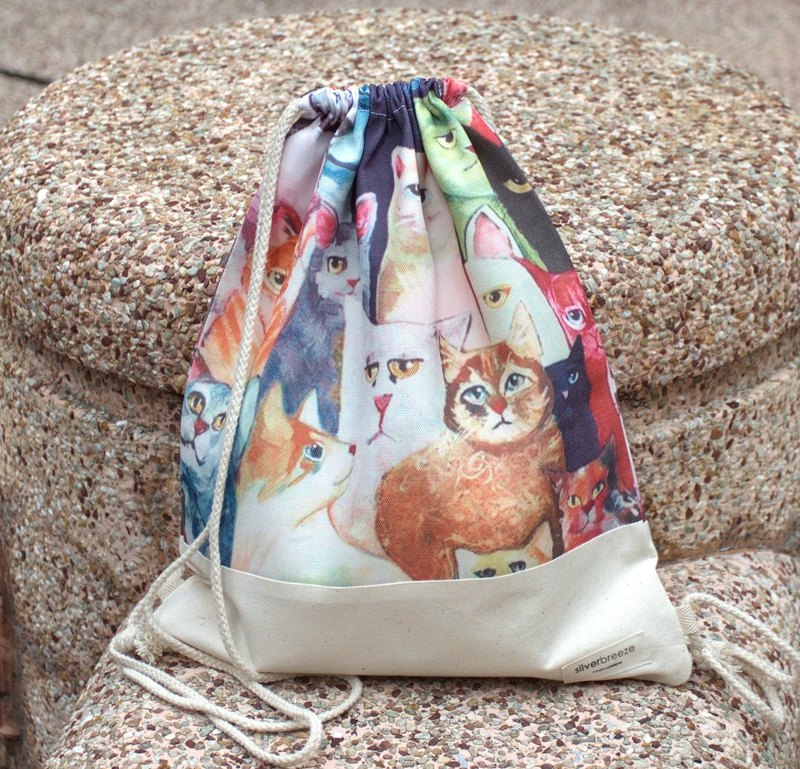 Silverbreeze~Bundle Back Backpack~ Cute Big Cat (B40)