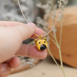 a little cute pug dog handmade necklace from Niyome