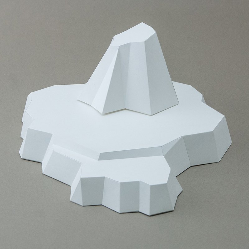 DIY hand made 3D paper model decoration accessories series - Polar iceberg base (4 colors optional)
