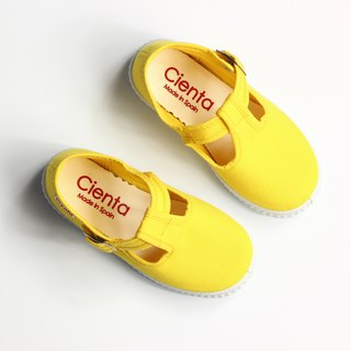 Spanish nationals canvas shoes CIENTA 51000 04 yellow children's shoes size