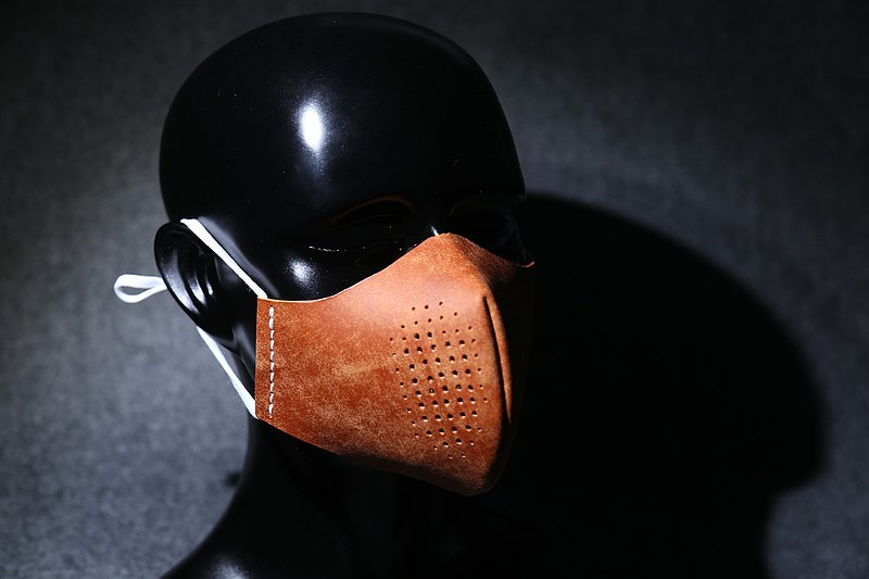 [Tangent Pie] Handmade leather mask dustproof motorcycle mask with pure cotton inner core can be reused