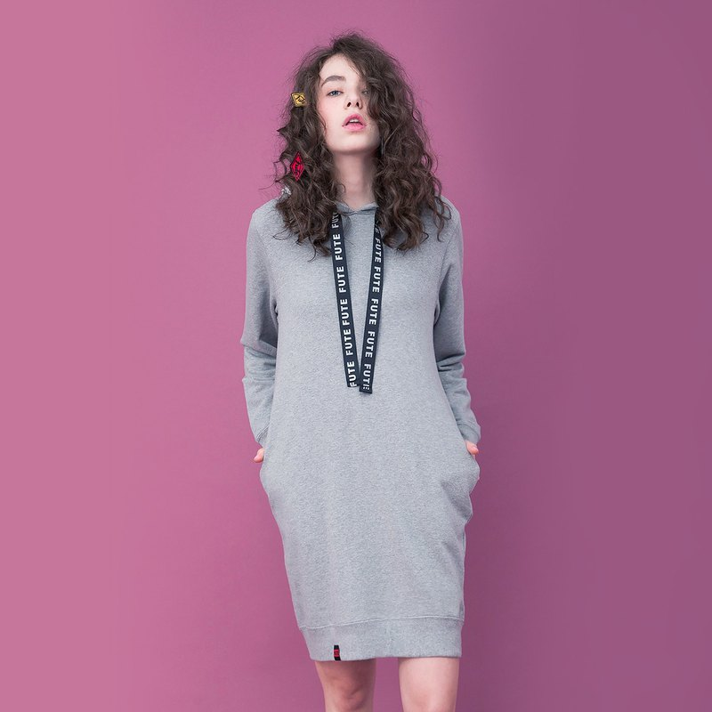 WOMENS HOODIE DRESS