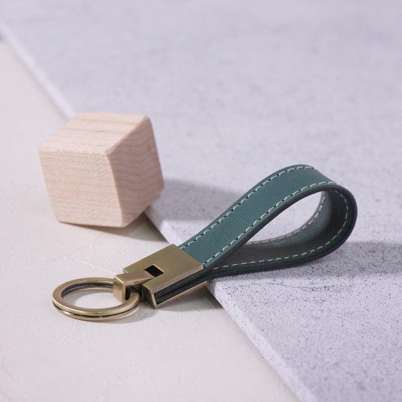 長條鑰匙圈Long Key Chain - Dark Green墨綠 /免費刻字 交換禮物/ 免費刻字 | 聖誕禮物 |
